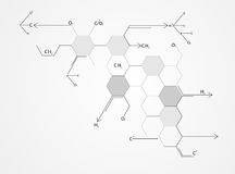 Medical molecular structures Stock Photography