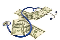 Medical Money With Stethoscope Royalty Free Stock Image