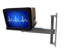 Medical monitor. Isolated on white background Stock Images