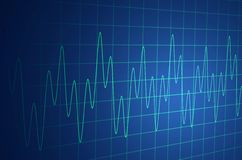 Medical Monitor. Wave illustration representing an oscilloscope or medical device Stock Photography