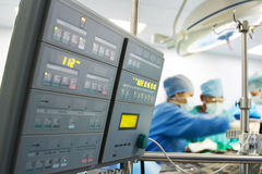 Medical monitor at surgery  Royalty Free Stock Photo
