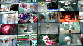 Medical montage. stock footage