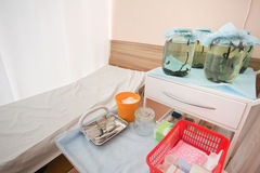 Medical movable bedside-table Royalty Free Stock Images