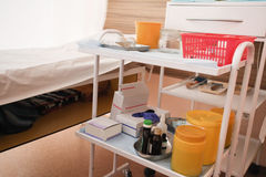 Medical movable bedside-table Stock Photography