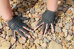 Medical mud on the shore of the Dead Sea, Jordan Stock Images