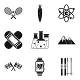 Medical nature icons set, simple style. Medical nature icons set. Simple set of 9 medical nature vector icons for web isolated on white background Royalty Free Stock Photography