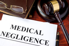 Medical Negligence form Stock Photography