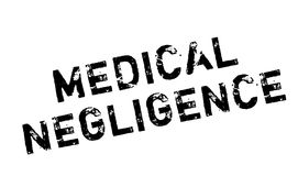 Medical Negligence rubber stamp Stock Photography