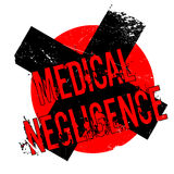 Medical Negligence rubber stamp Stock Images