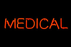 Medical neon sign Royalty Free Stock Photography