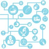 Medical network. Background, info graphic Royalty Free Stock Photo
