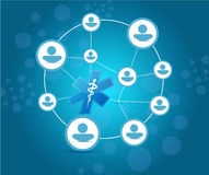 Medical network and communication concept Royalty Free Stock Image