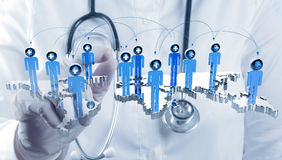 Medical network concept Stock Photography