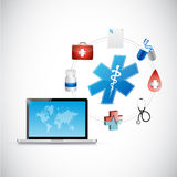 Medical network connection people connection Royalty Free Stock Photos