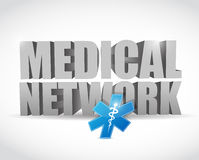 Medical network illustration design Stock Images