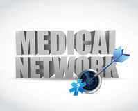 Medical network and radar illustration design Royalty Free Stock Image
