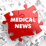 Medical News on Red Puzzle. Royalty Free Stock Image