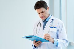 Medical notes Stock Photo