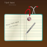 Medical notes and stethoscope Stock Images