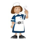 Medical nurse. Cartoon medical nurse isolated on white background Royalty Free Stock Image