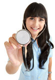 Medical nurse with stethoscope Royalty Free Stock Photography