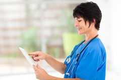 Medical nurse tablet Royalty Free Stock Image