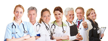 Medical nursing team. With doctors, nurses and caregivers stock photos