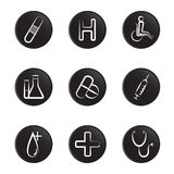 Medical object icon set Stock Photo