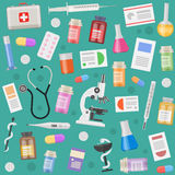 Medical Objects Pattern Royalty Free Stock Photos