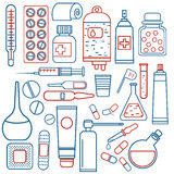 Medical objects set Stock Photo