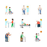 Medical occupation professional people icon set flat vector Royalty Free Stock Photos