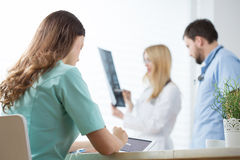 At medical office Stock Photography