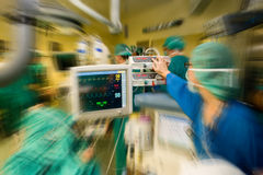 Medical operation. Serious medical operation in hospital Royalty Free Stock Images
