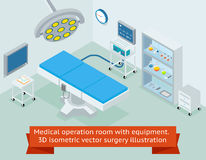 Medical operation room with equipment. 3D Royalty Free Stock Photo