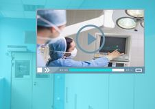 Medical Operation Video Player App Interface. Digital composite of Medical Operation Video Player App Interface Stock Images