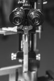 Medical optometrist equipment used for eye exams Stock Image