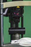 Medical optometrist equipment used for eye exams Stock Photography