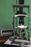 Medical optometrist equipment used for eye exams Royalty Free Stock Image