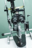Medical optometrist equipment used for eye exams Royalty Free Stock Photography