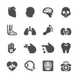 Medical and organ icon set, vector eps10 Stock Photography