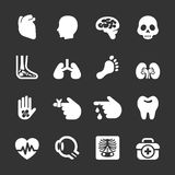 Medical and organ icon set Royalty Free Stock Photos