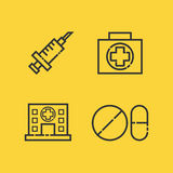 Medical outline icon Stock Image