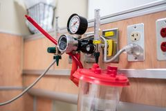 Medical oxygen delivery system in a hospital stock images