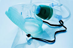 Medical oxygen mask. Closeup of a medical oxygen mask royalty free stock images