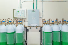 Medical Oxygen Tank in Hospital control room Stock Photography