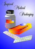 Medical Packaging. Commercial poster for packing Company, created in Coreldraw10 Royalty Free Stock Photography