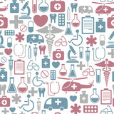 Medical pattern. Seamless background with medical icons Stock Photos