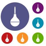 Medical pear icons set Royalty Free Stock Image