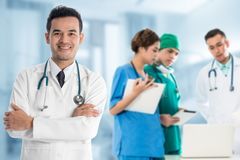 Medical people group - Doctor, Nurse and Surgeon stock photography