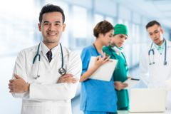 Medical people group - Doctor, Nurse and Surgeon stock image